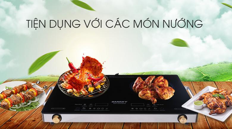 Bếp Hồng Ngoại Đôi Sanaky SNK203HGNW