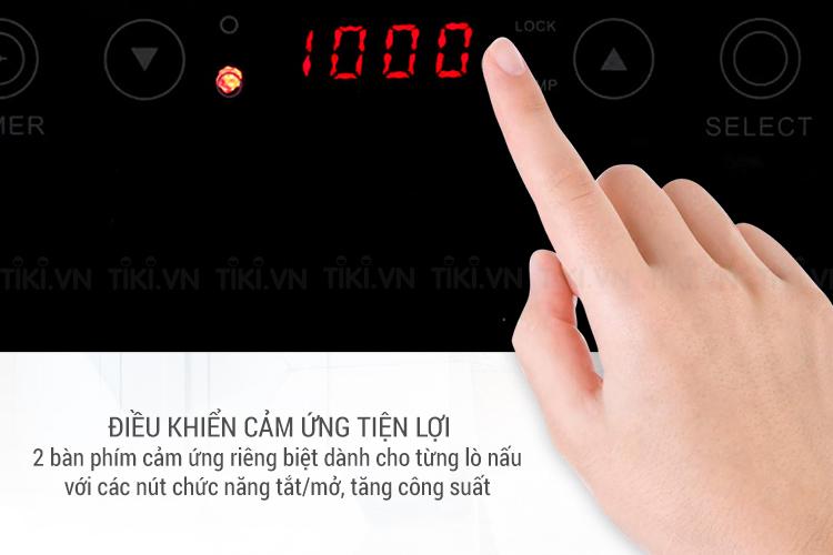 Bếp Đôi Điện Từ - Hồng Ngoại Sunhouse SHB9106-ES
