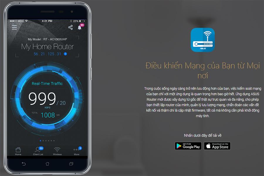 Router Wifi 8 Ăng-Ten 3 Băng Tần Chuẩn Asus GT-AC5300 AC-5300 (2167Mbps) - Hàng Chính Hãng