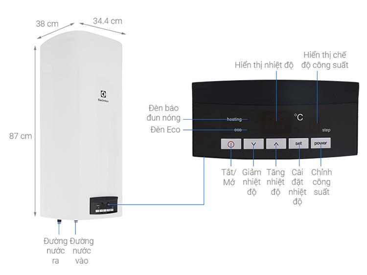 Máy Nước Nóng Gián Tiếp Electrolux 50L EWS502DX-DWE (2000W)