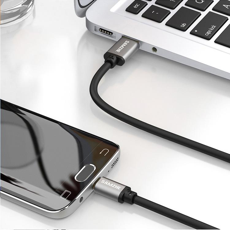 Cáp Sạc Type-C Với Đầu USB 3.0 0.25m Hỗ Trợ Millet 5/ 4C/ Music AS/ Huawei P9/ P10 Với Vỏ Bọc Nhôm - SAMZHE LTC-25B - Đen