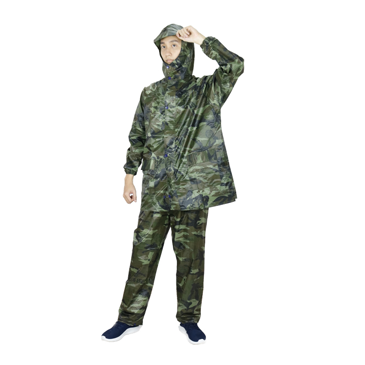 Áo mưa bộ vải dù lính cao cấp