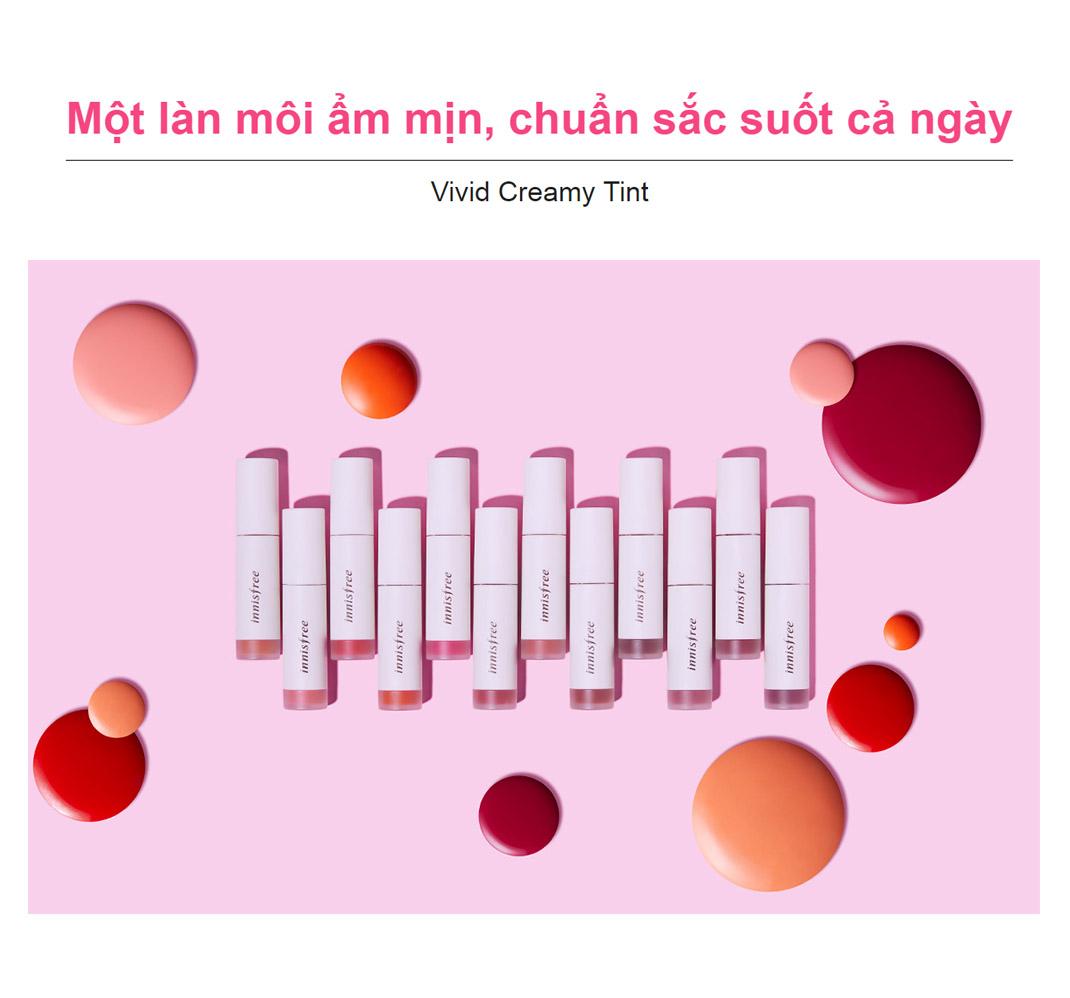Son Tint Bóng Ẩm Mượt Innisfree Vivid Creamy Tint 4.8g 2