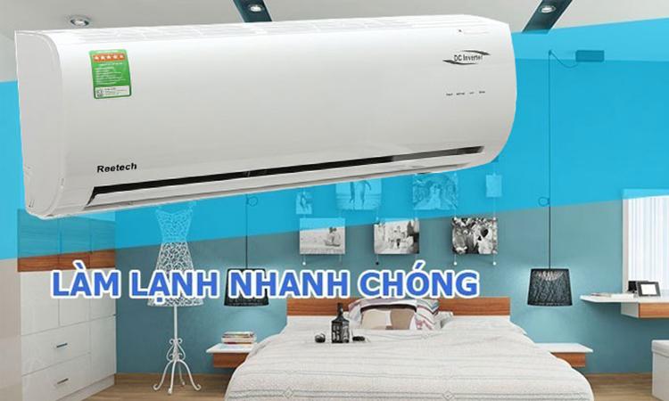 Máy Lạnh Inverter Reetech 1.5HP RTV12-BFA