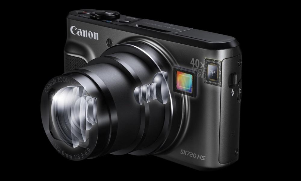 Máy Ảnh Kỹ Thuật Số Canon PowerShot SX720 HS (20,3 Triệu Điểm Ảnh, Cảm Biến Ánh Sáng Gấp 40 Lần Ánh Sáng, Góc Siêu Rộng 24mm) - Đen