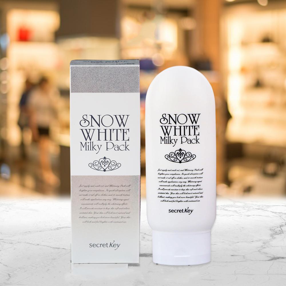 Kem tắm trắng mặt và toàn thân Secret Key Snow White Milky Pack 200g