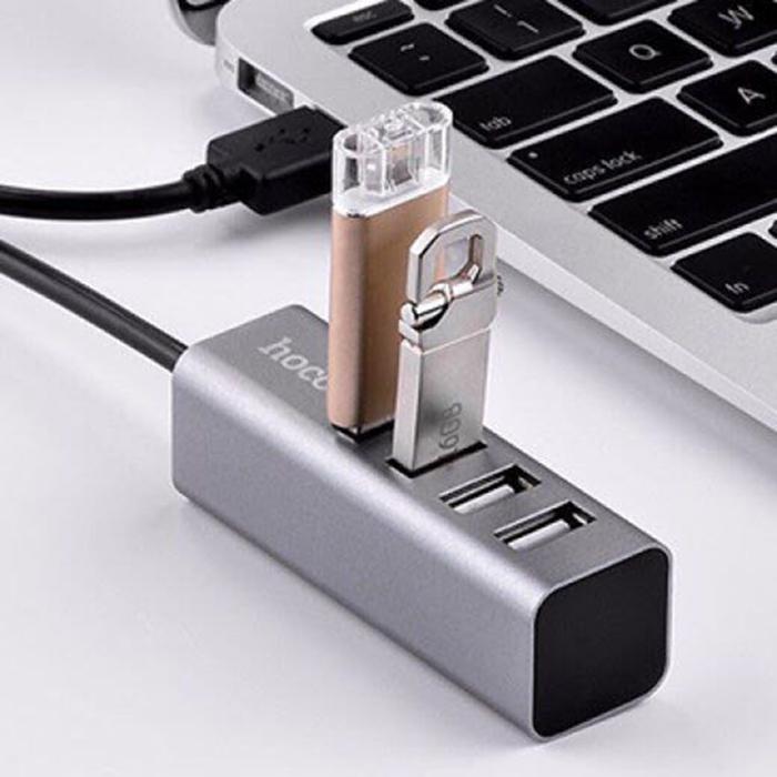 Hub USB 4 cổng Hoco HB1 (Xám đen)