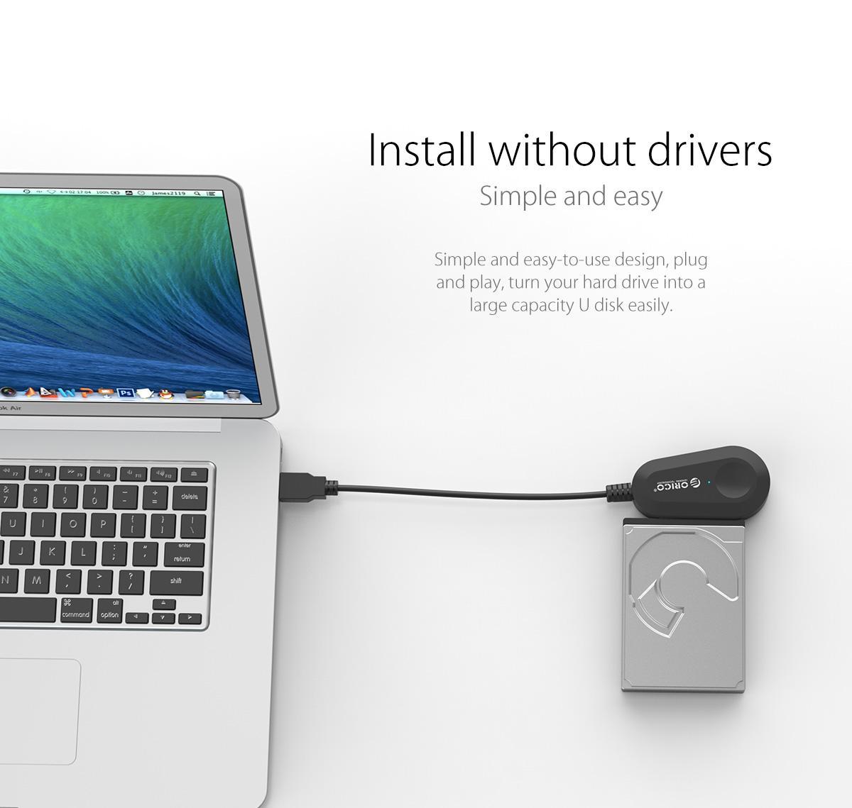 """Đầu đọc dữ liệu ổ cứng: 3.5"""" và 2.5"""" SATA 3 USB 3.0 ORICO - 35UTS"""
