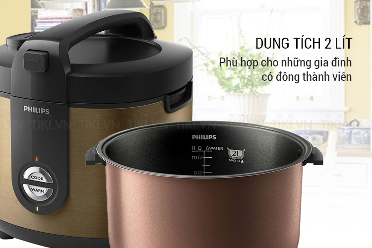 Nồi Cơm Điện Philips HD3132/68 (2 Lít)