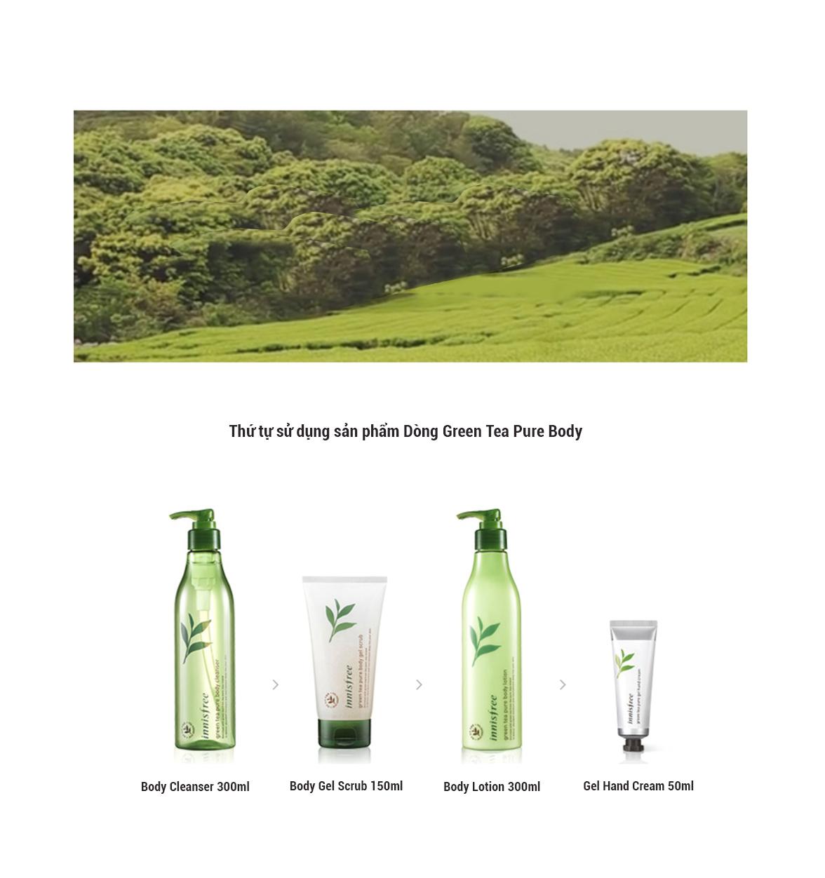 Sữa Tắm Từ Trà Xanh Innsifree Green Tea Pure Body Cleanser (300ml)