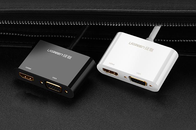 Cáp Chuyển Đổi Ugreen MiniDP Sang HDMI VGA (25cm) - Hàng Chính Hãng