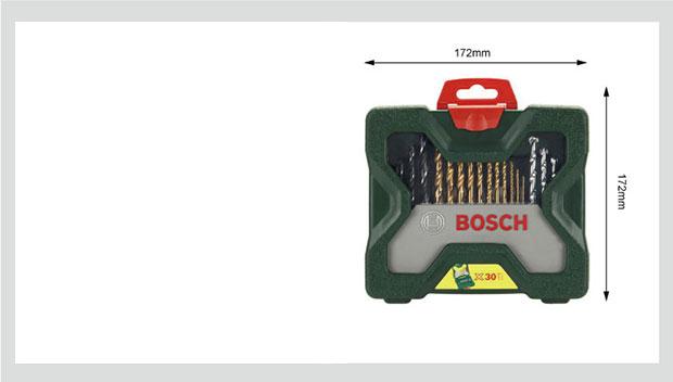 Bộ Hỗn Hợp 30 Món Bosch (BOSCH) (Bao Gồm Mũi Khoan Titan) - Xanh [6949509201140]