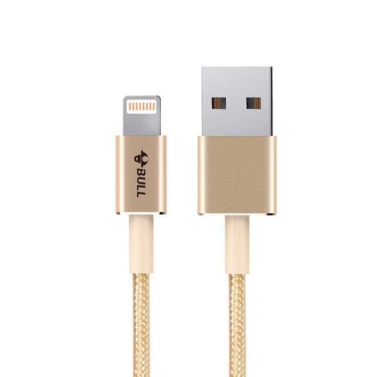 Cáp Sạc Và Truyền Dữ Liệu CỔng Lightning Cho Điện Thoại Apple Bull GNV-J7210 - Hồng Vàng