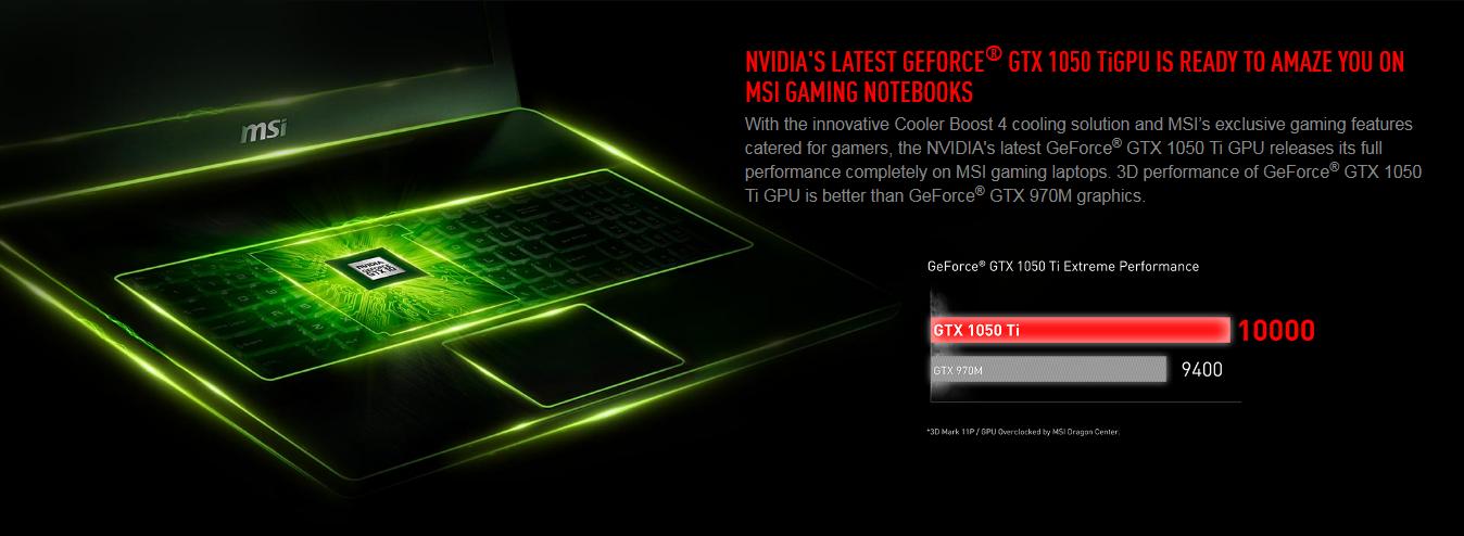 Laptop MSI GP72M 7REX-1216XVN - Core i7-7700HQ/ Dos (17.3 inch) - Đen - Hàng Chính Hãng