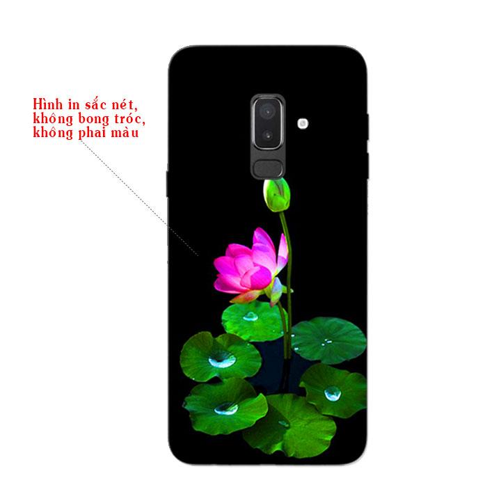 Ốp Lưng Dẻo Cho Điện thoại Samsung Galaxy J8 - Lotus 02