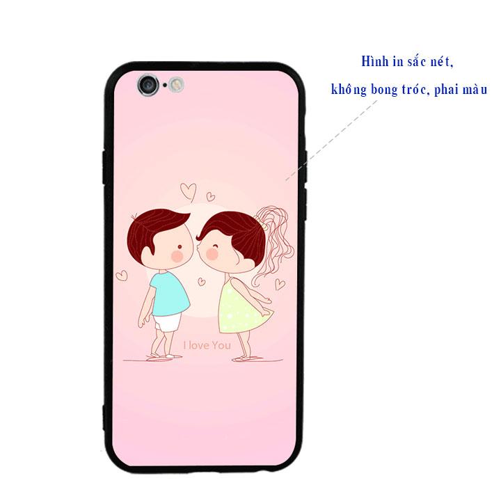 Ốp lưng viền TPU cao cấp cho Iphone 6 Plus - Kiss Love 01