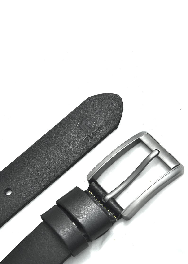Thắt lưng da bò nam AT Leather Premium PK3 - Đen
