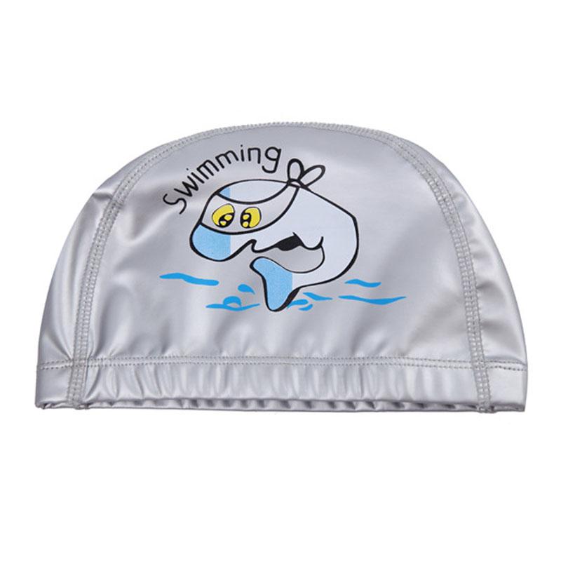 Nón bơi, mũ bơi trẻ em SWIMMING (Bé 3 - 15 tuổi), chất liệu PU co giãn, chống thấm nước cao cấp - POKI
