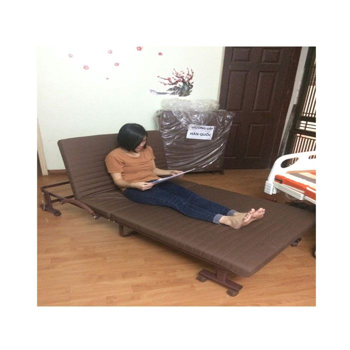 Giường gấp di động Hàn Quốc rộng 75cm