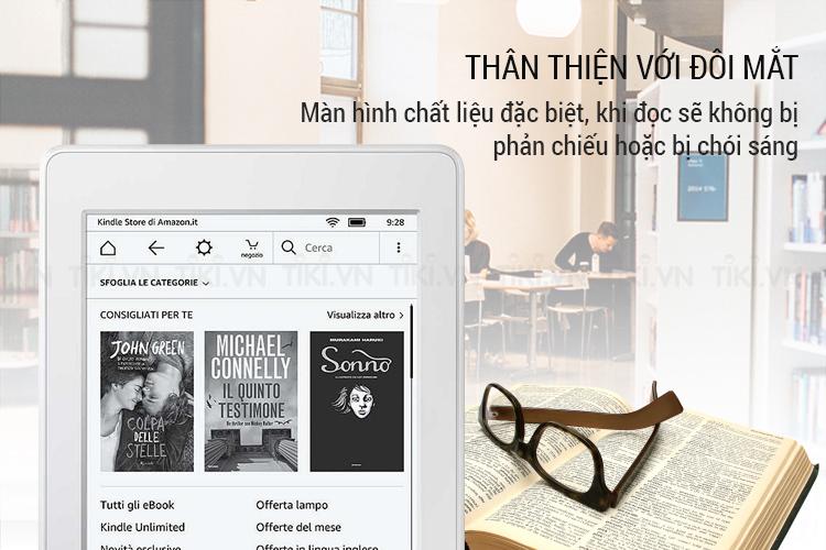 Máy Đọc Sách Kindle Paperwhite 2018 (7th) - Trắng