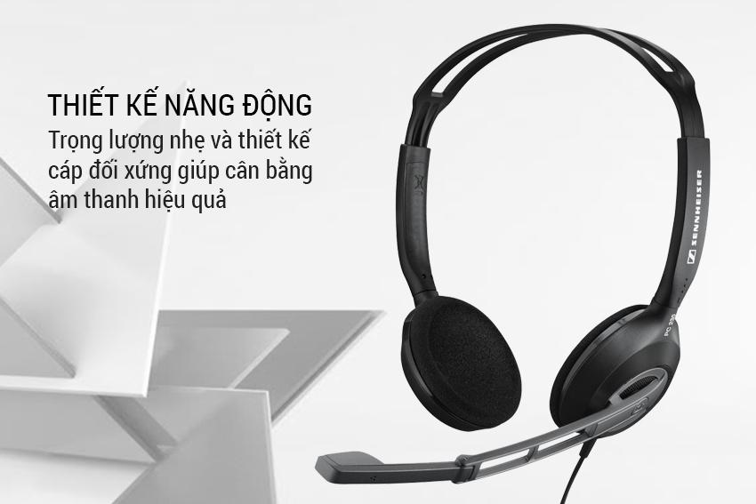 Tai Nghe Máy Tính Chụp Tai Sennheiser PC 3 Chat - Hàng Chính Hãng