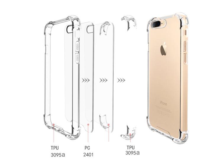 Ốp Nhựa Escase iPhone 7 Vừa Vặn Chống Sốc Chống Thấm Kèm Dụng Cụ Vệ Sinh - Trong Suốt