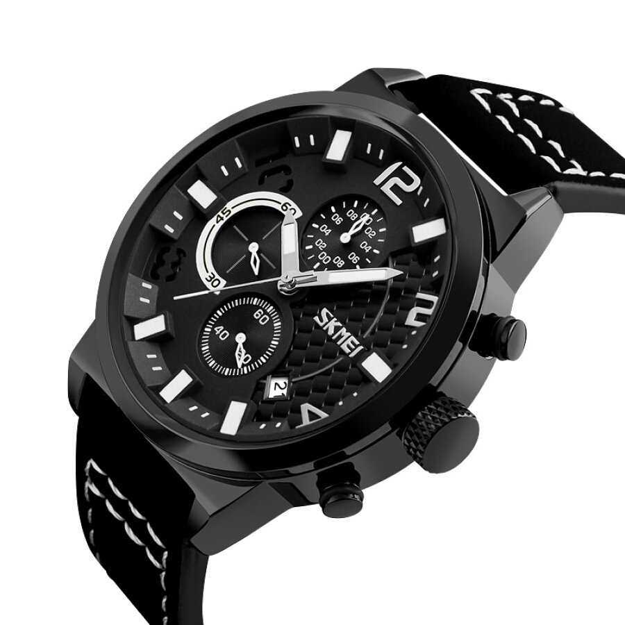Time beauty skmei watches men's sports fashion creative scale running second chronograph quartz watch 9149 black