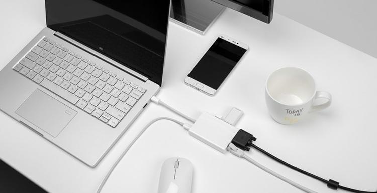 Bộ Chuyển Đổi Xiaomi USB-C To VGA And Gigabit Ethernet JGQ4005TY - Hàng Chính Hãng