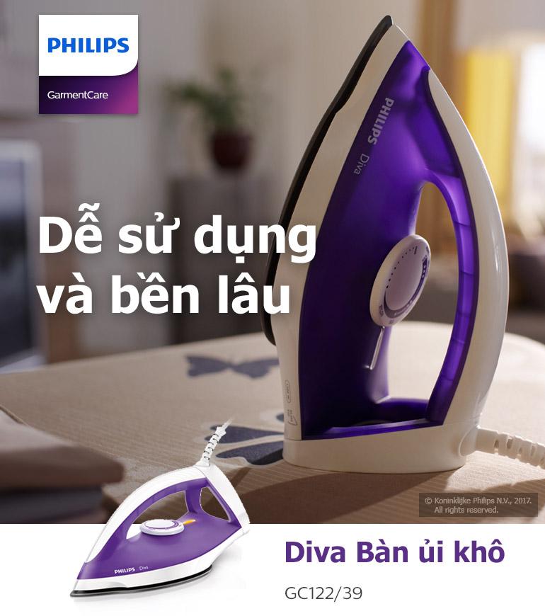 Bàn Ủi Khô Philips GC122/39