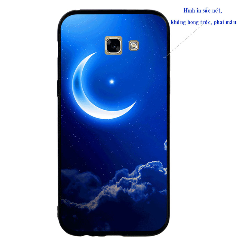 Ốp lưng viền TPU cao cấp cho Samsung A5 2017 -  Moon 01