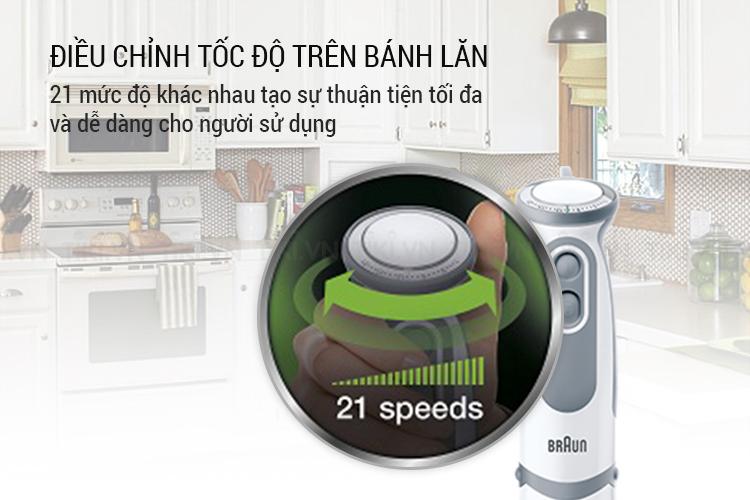 Máy Xay Cầm Tay Braun MQ 5000 Soup Vario – Trắng xám