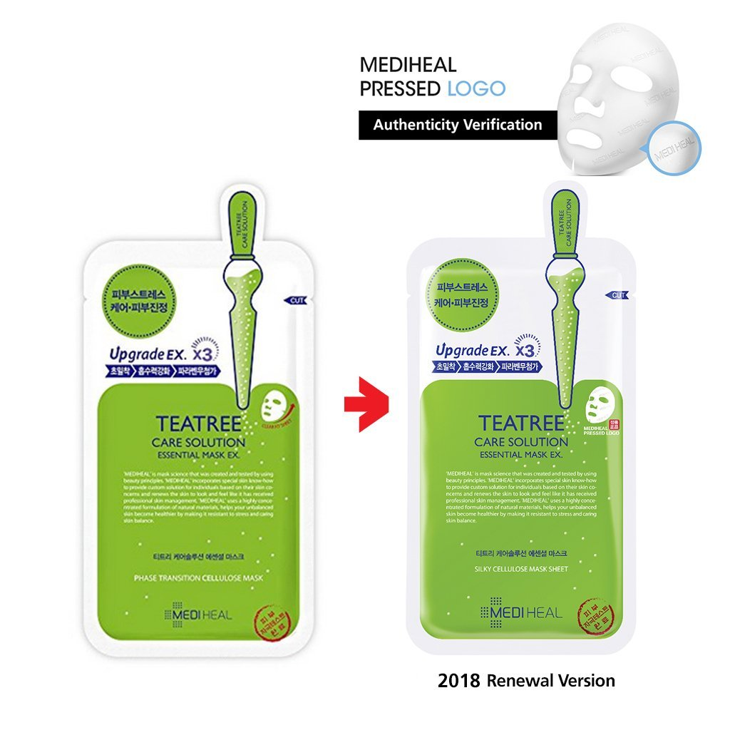 Mặt nạ dưỡng da trị mụn chiết xuất tràm trà Mediheal Teatree Solution Essential Mask Ex 25ml