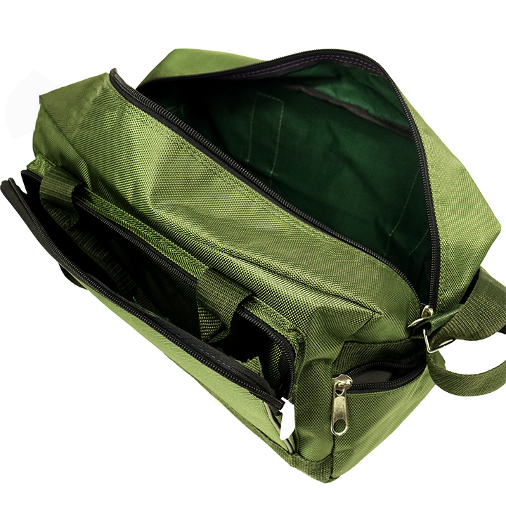 Túi xách du lịch vải bố xanh rêu cao cấp AH