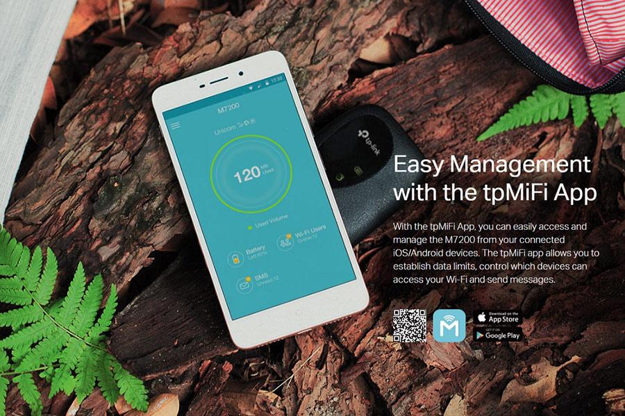 TP-Link M7200 - Phát Wifi Di Động 4G LTE 2.4GHz 300Mbps - Hàng Chính Hãng