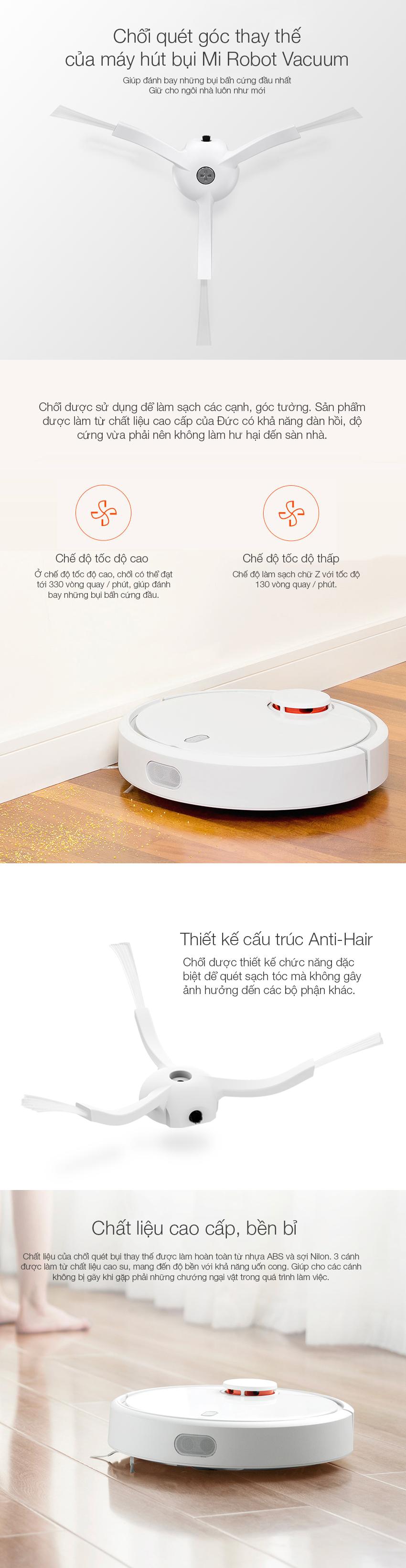 Chổi quét góc thay thế của Robot hút bụi Xiaomi Robot Vacuum - SKV4006CN
