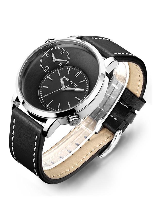 Đồng hồ nam Mini focus dây da cao cấp 5 kim thời thượng JS-MF035