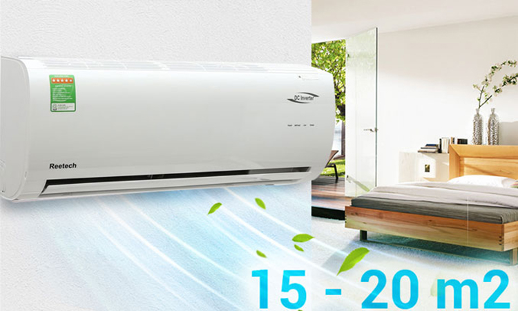 Máy Lạnh Inverter Reetech 1.0HP RTV9-BFA
