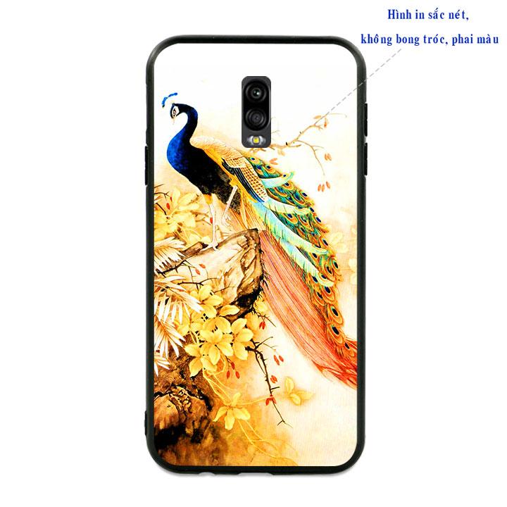 Ốp lưng viền TPU cao cấp cho Samsung Galaxy J7 Pro - Khổng Tước