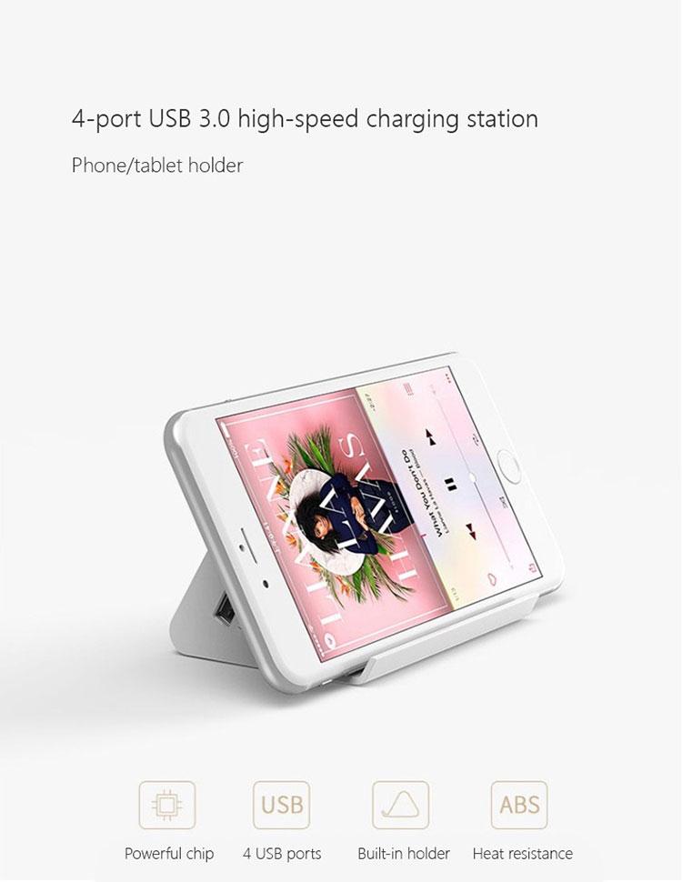Adapter Sạc USB 3.0 ORICO SHC-U3 - 4 Cổng, Có Chân Đế