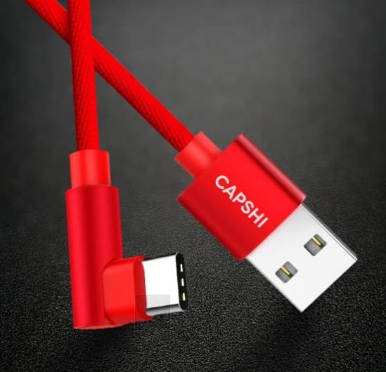 Dây Sạc Và Truyền Dữ Liệu Capshi Kết Nối Từ Type-C Sang Cổng Android - Dành Cho Điện Thoại Huawei P10/mate9 Glory 8 Maiman Samsung S8 Millet 5S6 - 2.4A, 1.2M - Đỏ