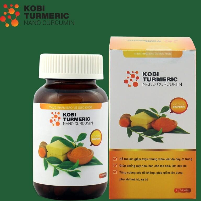 Combo 12 lọ thực phẩm chức năng tinh bột nghệ Kobi Turmeric Nano Curcumin 30 viên/lọ
