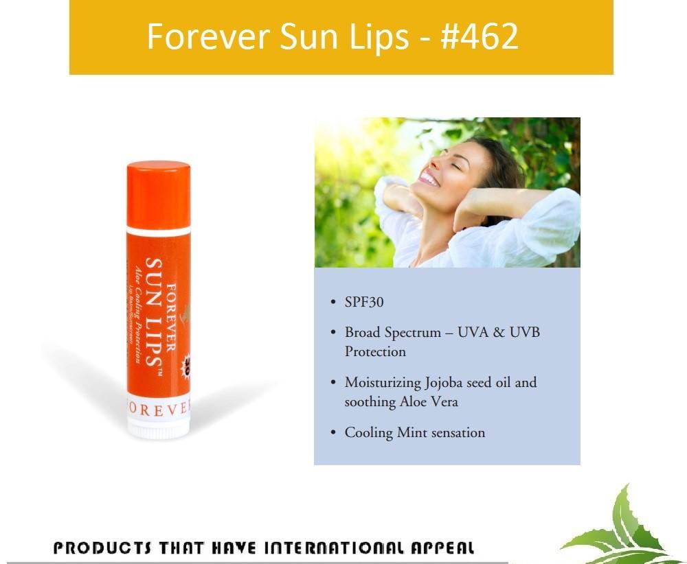 Combo 2 Son dưỡng và chống nắng cho môi - Forever Sun Lips (#462)-với SPF30