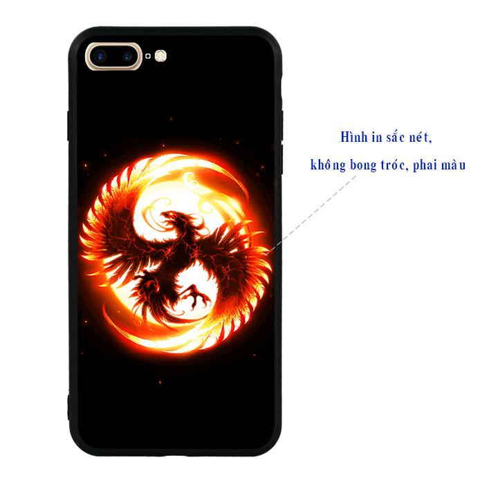Ốp lưng viền TPU cao cấp cho Iphone 7 Plus - Phượng Hoàng Lửa