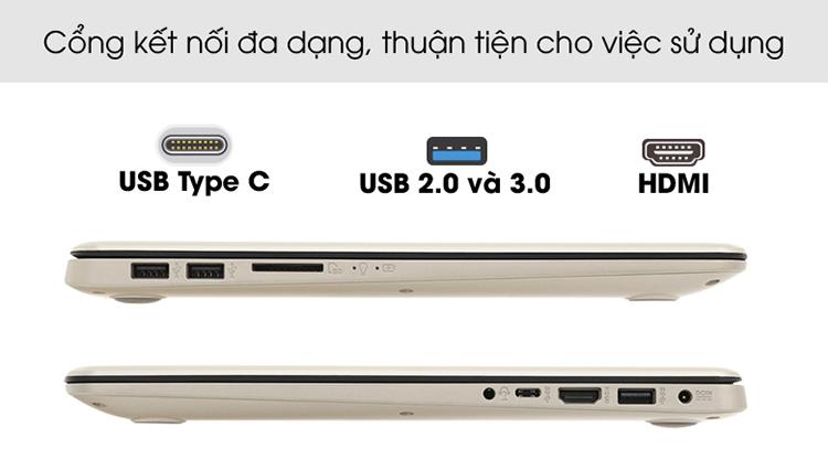 Laptop Asus Vivobook A510UF-EJ587T Core i5-8250U/Win10 (15.6 inch) (Gold) - Hàng Chính Hãng