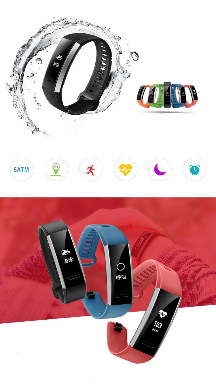 Vòng Tay Thể Thao Thông Minh Huawei GPS Version Kháng Nước 50m Hỗ Trợ Phần Mềm Đo Nhịp Tim, Gọi Điện Thoại - Xanh