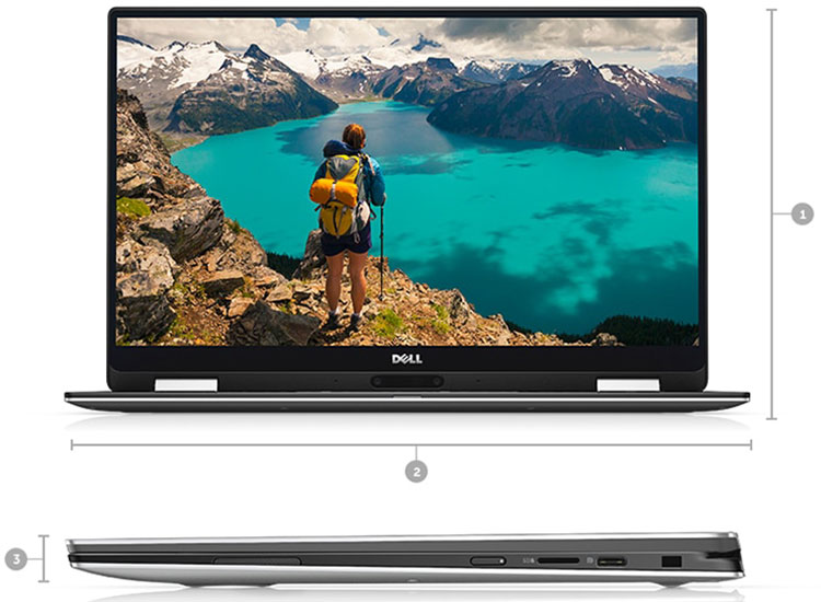 Laptop Dell XPS 13 9365 70130588 Core i5-7Y54/Win10 (13.3 inch)