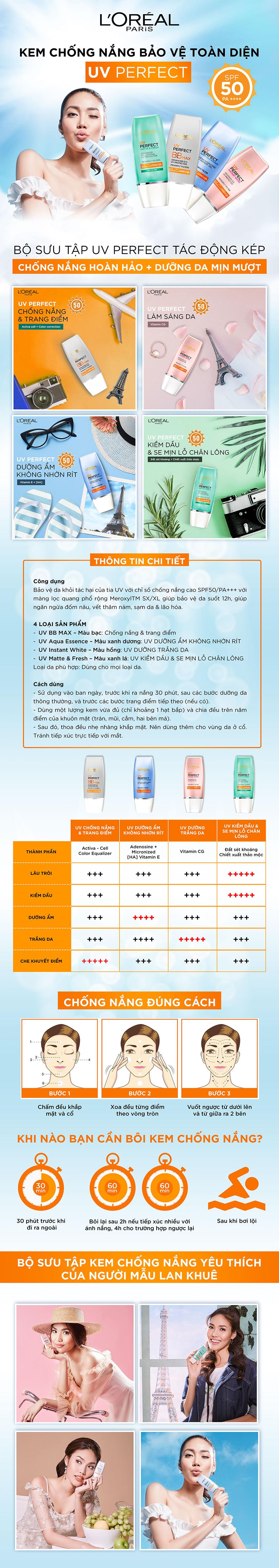 Kem Chống Nắng Trang Điểm BB Cream L oreal SPF50 PA+++ UVP (30ml) 1