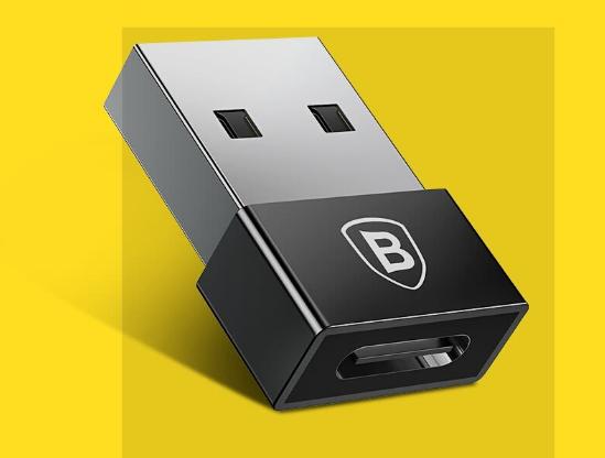 Đầu Chuyển USB Type-C 2.4A Baseus - Đen