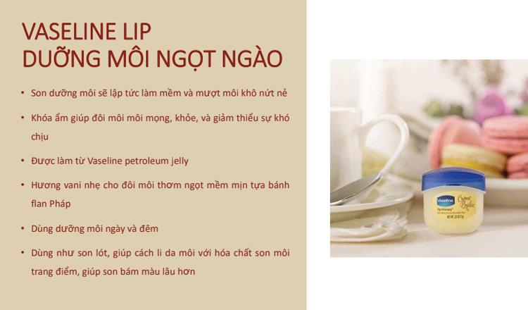 Sáp Dưỡng Môi Ngọt Ngào Vaseline Lip (7g)
