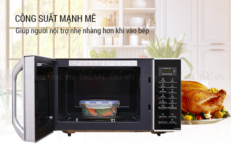Lò Vi Sóng Panasonic NN-GT35HMYUE (800W) - Trắng Đen